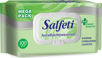 Салфетки влажные антибактериальные Salfeti.