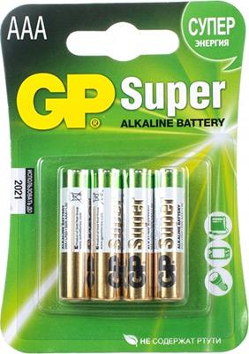 цена на Батарейка GP 24A(LR03) 4 штуки Super Alkaline AAA