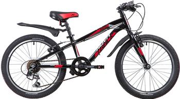 Велосипед Novatrack 20 PRIME чёрный алюм. 6-скор TY21/TS38/SG-6SI V-brake