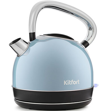 Чайник электрический Kitfort KT-696-2 голубой фото