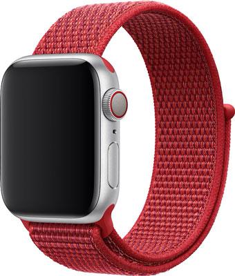 Ремешок нейлоновый Eva для Apple Watch 38/40mm Красный (AVA009R) ремешок для смарт часов marcel robert ремешок apple watch 38 40mm xs красный