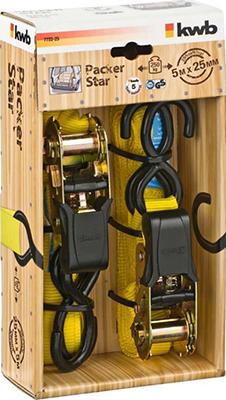 Ремень стяжной Kwb с двумя крючками Kwb 25мм 5м 2шт 7722-25