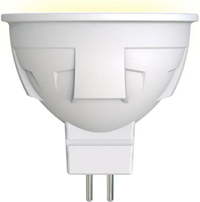 Лампа светодиодная Uniel LED-JCDR 6W/WW/GU5.3/FR PLP01WH Форма «JCDR» матовая (3000K) 002424