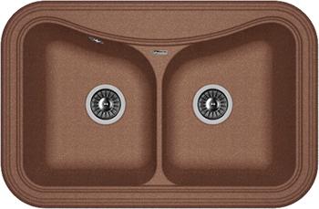 Кухонная мойка Florentina Крит-780 А 780х510 мокко FSm кухонная мойка florentina касси 780 780х510 антрацит fsm