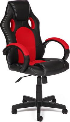 Кресло Tetchair RACER GT (кож/зам ткань черный/красный 36-6/08) кресло компьютерно tetchair рейсер ст racer st доступные цвета обивки искусств чёрная кожа синяя сетка