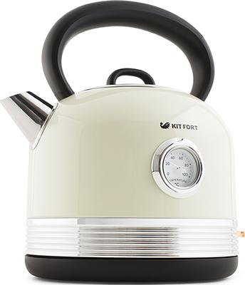 Чайник электрический Kitfort КТ-634-3 бежевый чайник электрический kitfort кт 670 3 1 7л 2200вт бежевый