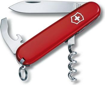 Нож перочинный Victorinox Waiter  84 мм  9 функций  красный
