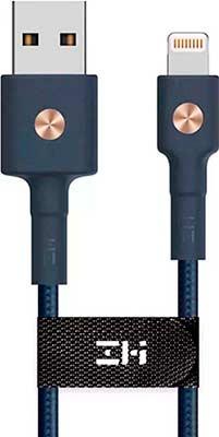 Фото - Кабель Xiaomi USB/Lightning MFi 100 см (AL803) синий дата кабель iq format lightning usb сладости 1 м кожзам