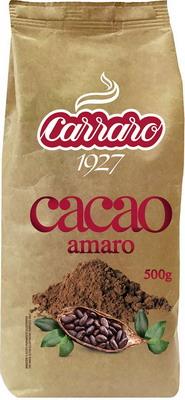 Какао Carraro Amaro чистое горькое без сахара 0 5кг
