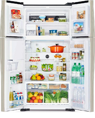 Холодильник Side by Side Hitachi R-W 722 PU1 GGR холодильник side by side hitachi r s 702 gpu2 gs