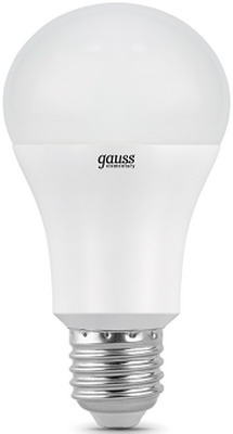 Лампа GAUSS Elementary LED A 60 15 W E 27 2700 K 23215 лампа gauss led elementary globe 7w e 27 2700 k комплект 3шт 53217 t