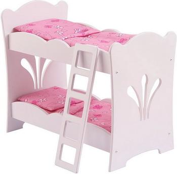 Двухъярусная кроватка для куклы KidKraft 60130_KE мебель для кукол мария кроватка двухъярусная
