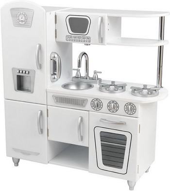 цены Деревянная кухня KidKraft Винтаж белая 53208_KE