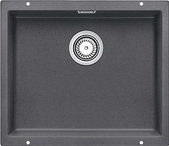 Кухонная мойка Blanco 523433 SUBLINE 500-U SILGRANIT темная скала с отв.арм. InFino