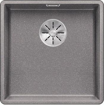 Кухонная мойка Blanco SUBLINE 400-F алюметаллик с отв.арм. InFino 523495