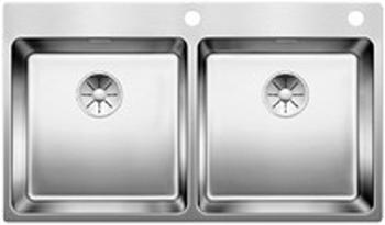Кухонная мойка Blanco ANDANO 400/400-IF/A InFino нерж. сталь 522998 фото