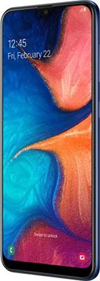 Смартфон Samsung Galaxy A20 32GB SM-A205F (2019) синий смартфон samsung galaxy s8 sm g950f 64gb жёлтый топаз