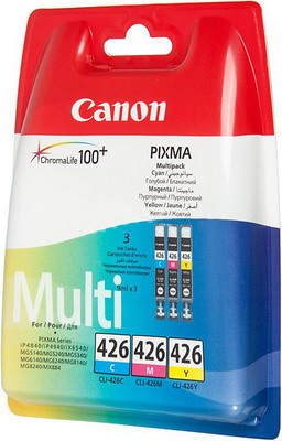 Набор картриджей Canon CLI-426 C/M/Y 4557 B 006 canon cli 426 m 4558b001