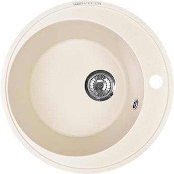 Кухонная мойка Respecta Sfera RS-45 сливочная ваниль RS45.108