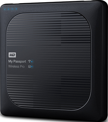 Внешний жесткий диск (HDD) Western Digital USB3/WIFI/SD 1TB 2.5'' BLACK WDBVPL0010BBK-RESN цена