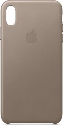 Чехол (клип-кейс) Apple Leather Case для iPhone XS Max цвет (Taupe) платиново-серый MRWR2ZM/A