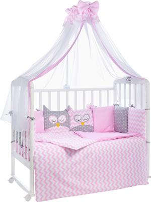 Комплект в кроватку Sweet Baby Civetta Rosa (Розовый) 7 пр. 424 469 матрас в кроватку sweet baby cocos classic 119х59х6