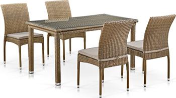 Комплект мебели Афина T256B/Y380B-W65 Light Brown