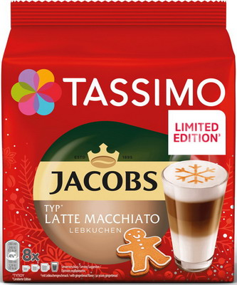 цена Кофе капсульный Tassimo Латте Макиато Имбирный пряник онлайн в 2017 году