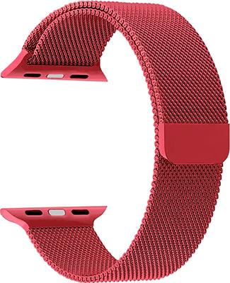 ремешок sport band для смарт часов apple watch 38 40 мм черный с белым Ремешок для часов Lyambda для Apple Watch 38/40 mm CAPELLA DS-APM02-40-GS Gules