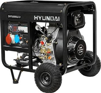 Электрический генератор и электростанция Hyundai DHY 6000LE-3 hyundai matrix расход топлива