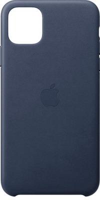 Чехол (клип-кейс) Apple iPhone 11 Pro Max Leather Case - Midnight Blue MX0G2ZM/A
