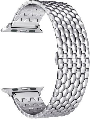 Фото - Ремешок для часов Lyambda из нержавеющей стали для Apple Watch 38/40 mm KITALFA LWA-08-40-SL Silver смотреть ремешок ремешок весна бар ссылка pin remover ремонт инструмента из нержавеющей стали