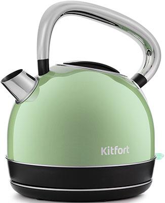 Чайник электрический Kitfort KT-696-3  салатовый