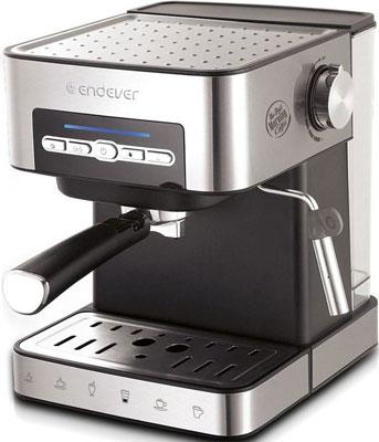 Кофеварка Endever Costa-1065 серебристый/черный кофеварка endever costa 1005 серебристый черный