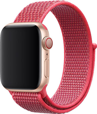 Ремешок нейлоновый Eva для Apple Watch 38/40mm Красный Гибискус (AVA009RH) ремешок для смарт часов marcel robert ремешок apple watch 38 40mm xs красный
