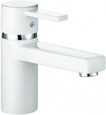 Смеситель для ванной комнаты Kludi ZENTA для раковины  без донного клапана  белый/хром  арт. 382519175