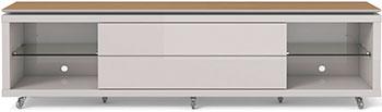 Фото - Тумба под телевизор Manhattan LINCOLN 1.9 ТВ OFF-WHITE/ NATURAL PA16654(172 54) 539 x 1950 x 448 тумба под телевизор sonorous std 160 i wht wht bs