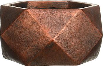 Фото - Напольный горшок для цветов Идеалист Lite Геометри файберстоун бронза Ш30 Д30 В15 см 11 л DBOWL30-BNZ напольный горшок для цветов идеалист lite страйп файберстоун серо коричневый д30 в53 см 37 л wstrip30 t
