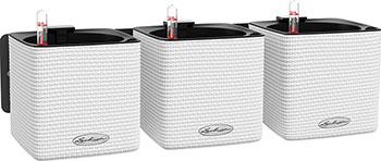 Комплект подвесных/настольных кашпо с автополивом Lechuza GREEN WALL Home Kit Color  пластик  белый  Ш15 В14 Д48 см  13398
