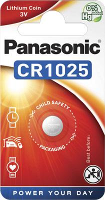 Батарейки Panasonic дисковые литиевые Lithium Power в блистере 1шт (CR-1025EL/1B)
