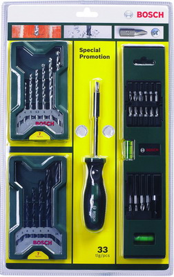 Набор принадлежностей Bosch mini-X-Line 32 шт 2607017200 berlingo набор офисных принадлежностей 400 шт