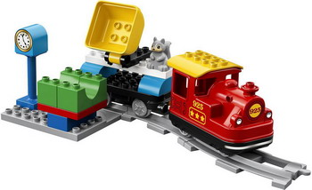 цены Конструктор Lego DUPLO Town: Поезд на паровой тяге 10874