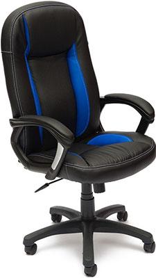 Кресло Tetchair BRINDISI (кож/зам черный/синий/черный перфорированный 36-6/36-39/36-6/06) цена и фото