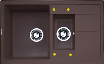 Кухонная мойка Zigmund & Shtain Rechteck 780.2 швейцарский шоколад zigmund amp shtain rechteck 775 2 швейцарский шоколад