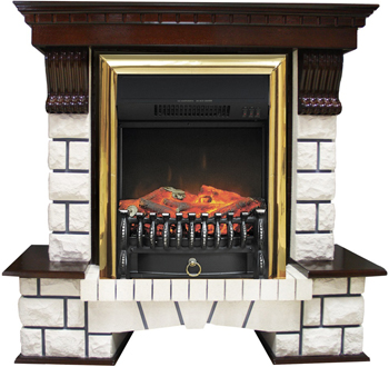 Каминокомплект Royal Flame Pierre Luxe с очагом Fobos FX BR (венге) 9966664910202 цена 2017