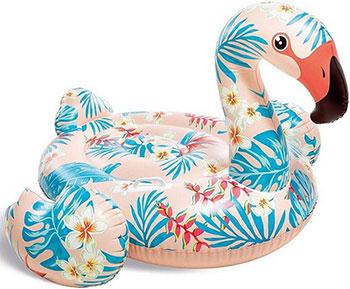 Надувной матрас-плот для плавания Intex 147х140х94 см ''Тропический Фламинго'' надувной плот остров intex фламинго с ручками 56288 218х211х136