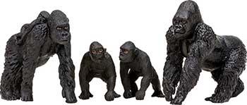 Набор фигурок животных Masai Mara MM201-003 серии ''Мир диких животных'': Семья горилл