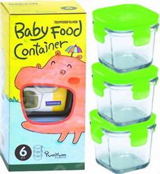 Набор детских контейнеров Glasslock GL-615/G зеленый блендер gelberk gl 513