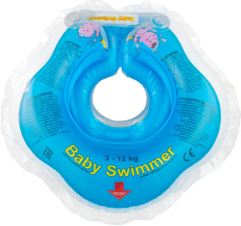 цены Надувной круг Baby Swimmer голубой (полуцвет) BS 02 B