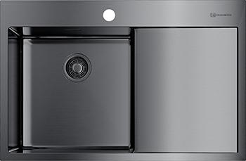 Кухонная мойка Omoikiri AKISAME 78-GM-L нерж.сталь/вороненая сталь (4973099) кухонная мойка omoikiri akisame 78 gm r нерж сталь вороненая сталь 4973100